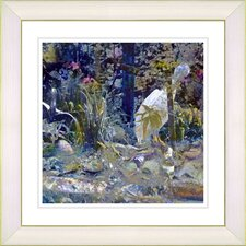 """Water Bird"" by Zhee Singer Framed Giclee Print Fine Art in Blue"