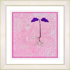 """Six Steps Off the Ground"" by Zhee Singer Framed Giclee Print Fine Art in Pink"