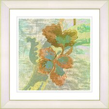 """Sophia Flower"" by Zhee Singer Framed Giclee Print Fine Art in Green"
