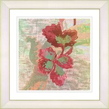 """Sophia Flower"" by Zhee Singer Framed Giclee Print Fine Art in Red"