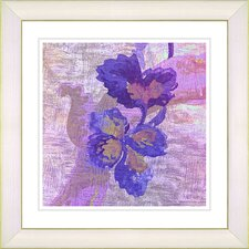"""Sophia Flower"" by Zhee Singer Framed Giclee Print Fine Art in Purple"