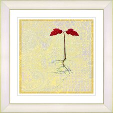 """Six Steps Off the Ground"" by Zhee Singer Framed Giclee Print Fine Art in Yellow"