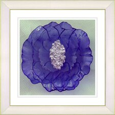 """Crystal Flower - Purple"" by Zhee Singer Framed Fine Art Giclee Print"
