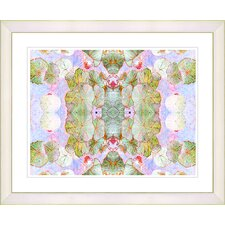 """Tide of Time Floral - Snow Pea"" by Zhee Singer Framed Fine Art Giclee Print"