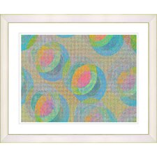 """Green Circle Series - Orange"" by Zhee Singer Framed Fine Art Giclee Print"