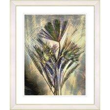 """""""Harvest Floral - Gold"""" by Zhee Singer Framed Fine Art Giclee Print"""