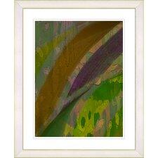"""Cinnabar - Olive"" by Zhee Singer Framed Fine Art Giclee Print"