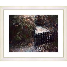 """Cape Cod Garden - Fall"" by Mia Singer Framed Fine Art Giclee Print"