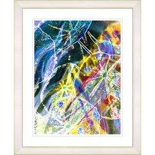 """Right as Rain - Blue"" by Zhee Singer Framed Fine Art Giclee Print"