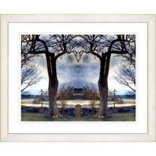 """Homestead - Blue"" by Mia Singer Framed Fine Art Giclee Print"