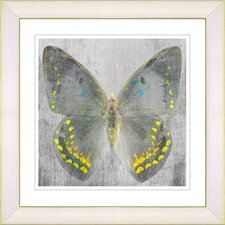 """Dusk Butterfly - Yellow"" by Zhee Singer Framed Fine Art Giclee Print"