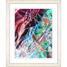"""Right as Rain - Red"" by Zhee Singer Framed Fine Art Giclee Print"