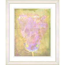 """Yellow Dansing Bud - Rose"" by Zhee Singer Framed Fine Art Giclee Print"