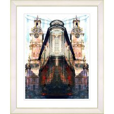 """Flatiron Building - Red"" by Zhee Singer Framed Fine Art Giclee Print"