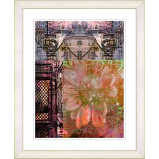 """Bustle - Orange"" by Zhee Singer Framed Fine Art Giclee Print"