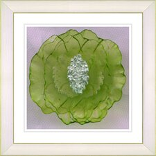 """Crystal Flower - Green"" by Zhee Singer Framed Fine Art Giclee Print"