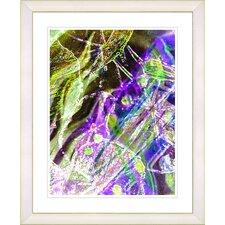 """""""Right as Rain - Purple"""" by Zhee Singer Framed Fine Art Giclee Print"""