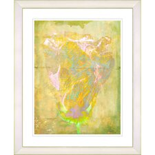 """Yellow Dansing Bud - Spring"" by Zhee Singer Framed Fine Art Giclee Print"