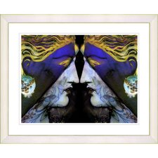 """Enigma - Blue"" by Mia Singer Framed Fine Art Giclee Print"