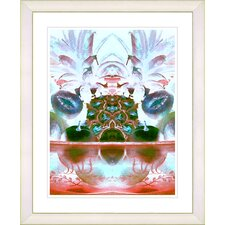 """Cut Crystal Fruit - Orange"" by Zhee Singer Framed Fine Art Giclee Print"