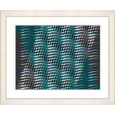 """Placidus - Teal"" by Zhee Singer Framed Fine Art Giclee Print"