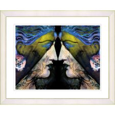 """""""Enigma - Gold"""" by Mia Singer Framed Fine Art Giclee Print"""