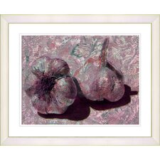 """Garlic - Red"" by Zhee Singer Framed Fine Art Giclee Print"