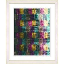 """""""Blue Dansing Bud - Purple"""" by Zhee Singer Framed Fine Art Giclee Print"""