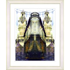 """Flatiron Building - Yellow"" by Zhee Singer Framed Fine Art Giclee Print"