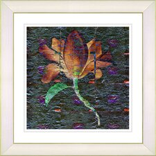 """Bliss Floral - Orange"" by Zhee Singer Framed Fine Art Giclee Print"