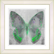 """Dusk Butterfly - Green"" by Zhee Singer Framed Fine Art Giclee Print"