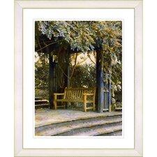 """""""Garden Bench"""" by Mia Singer Framed Fine Art Giclee Print"""