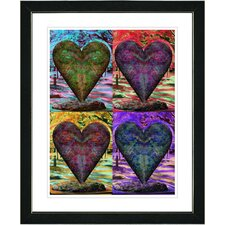 """Four Hearts"" by Zhee Singer Framed Fine Art Giclee Print"