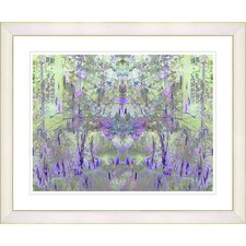"""Summer Land - Purple"" by Zhee Singer Framed Fine Art Giclee Print"