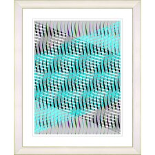 """""""Pastel Placidus - Turquoise"""" by Zhee Singer Framed Fine Art Giclee Print"""