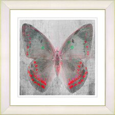 """Dusk Butterfly - Red"" by Zhee Singer Framed Fine Art Giclee Print"