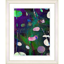 """Dark Plyos - Purple"" by Zhee Singer Framed Fine Art Giclee Print"
