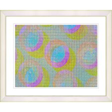 """Green Circle Series - Turquoise"" by Zhee Singer Framed Fine Art Giclee Print"