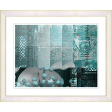 """Urban Puzzle - Turquoise"" by Zhee Singer Framed Fine Art Giclee Print"
