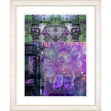 """Bustle - Purple"" by Zhee Singer Framed Fine Art Giclee Print"