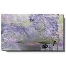 "<strong>Studio Works Modern</strong> ""Purple Mist Leaves"" Gallery Wrapped Canvas Wall Art"