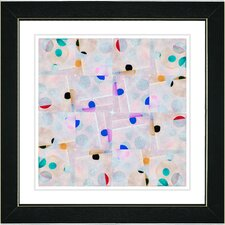 """Snowflake Symmetry"" by Zhee Singer Framed Graphic Art"