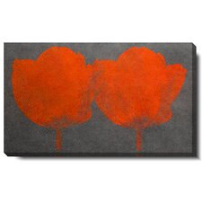 Twin Tulips Gallery Wrapped by Zhee Singer Canvas Painting Print