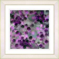 """Popcorn Floral - Purple"" by Zhee Singer Framed Fine Art Giclee Painting Print"