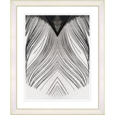 """""""White Feather"""" by Zhee Singer Framed Fine Art Giclee Painting Print"""
