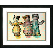 """Cat Family"" Framed Art"