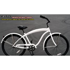 Men's Modena Alloy EX 1-Speed Beach Cruiser Bike