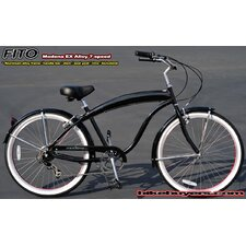 Men's Modena EX Alloy Shimano 7-Speed Beach Cruiser Bike