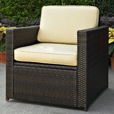 Outdoor Wicker Deep Seating Chair with Cushion