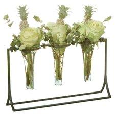 Square Knot 4 Piece Vial Holder Vase Set